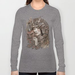 Peacock Samurai Long Sleeve T-shirt