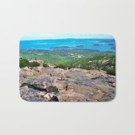 View of Bar Harbor, Maine from Cadillac Mountain (2) Bath Mat