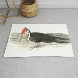 Pileated Woodpecker - Watercolor Rug
