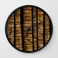 woody Wall Clocks featuring woody by colli1.3designs