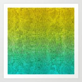 Ocean Sunrise Glitter Gradient Art Print