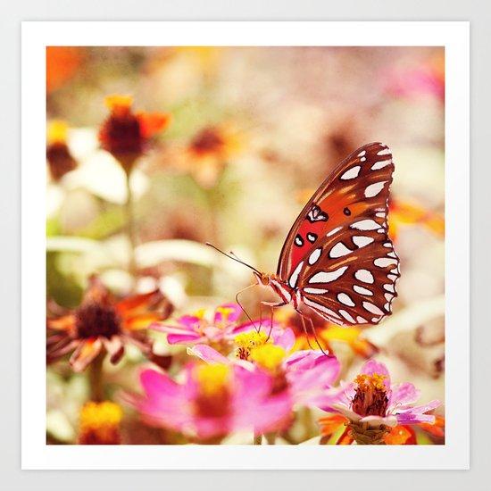 Textured Butterfly Art Print