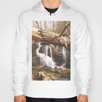 mineral Hoodies featuring Mineral Springs Falls by Mel O'Donohue