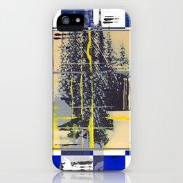 Sunday Morning - blue check iPhone Case