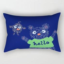 Hello Bear & Bird Rectangular Pillow