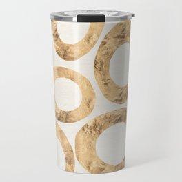 Large Circles (Ivory) Travel Mug