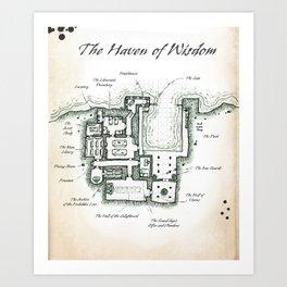 The Haven of Wisdom Art Print