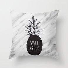 Well Hello Throw Pillow