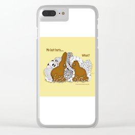 Chocolate Easter Bunny Problems Children Illustrations Clear iPhone Case