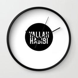 Yallah-Habibi arabic arabia art work Wall Clock
