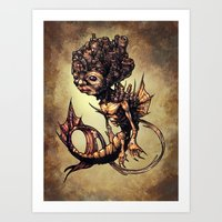 seahorse Art Prints featuring SEAHORSE by Tim Shumate