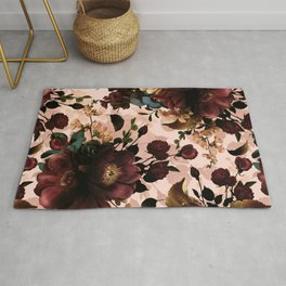 Vintage & Shabby Chic - Night Botanical Flowers Garden Affaire V Rug