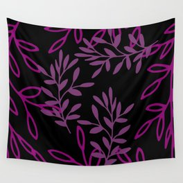 Leafy Pink Wall Tapestry