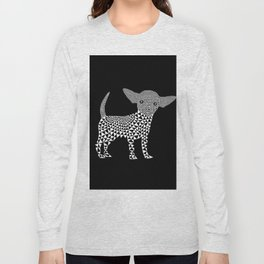 Chihuahua dog - black Long Sleeve T-shirt