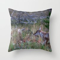 coyote Throw Pillows featuring Coyote by Stu Naranch