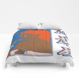 Elsa en playa ancha Comforters