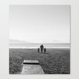 The sea and the men Canvas Print
