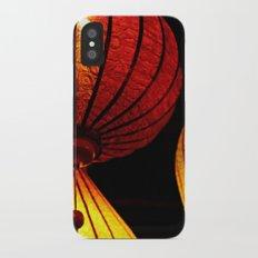 Neon Lanterns iPhone X Slim Case
