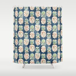 PINEAPP FOR THAT Colorful Pineapples Shower Curtain