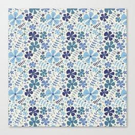 My Little Garden blue & green Canvas Print