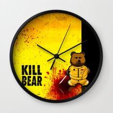 KILL BEAR Wall Clock