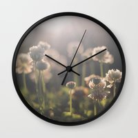 wander Wall Clocks featuring Wander by Laurice Solomon