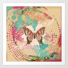The Butterfly Experiment Art Print