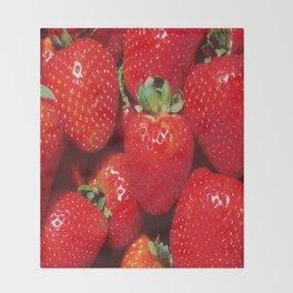 Garden Strawberries Throw Blanket