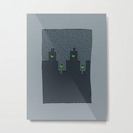 Rain in a Northen City Metal Print