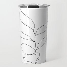Plant one line drawing illustration - Kay Travel Mug