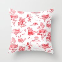 montreal Throw Pillows featuring Montreal Scenic by Audrey Fortin
