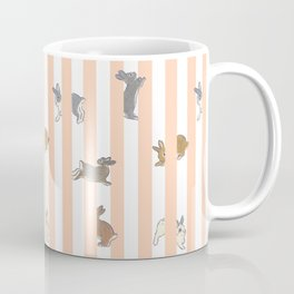 Stripe with bunnies Kaffeebecher
