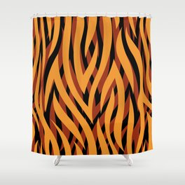 Brown and Gold Tiger Print Shower Curtain