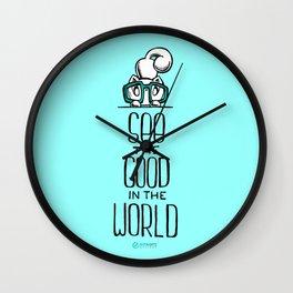 Skribbles: See the good Wall Clock