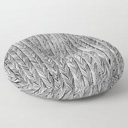 Ink Weaves: Grey Opal Floor Pillow