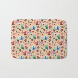 strawberry thieves Bath Mat