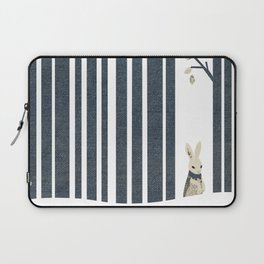 Winter Scene with Rabbit (Chasing the White Rabbit) Laptop Sleeve