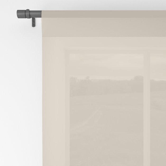 Dash in Tan Sheer Curtain