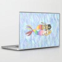 lesbian Laptop & iPad Skins featuring lesbian mermaids by ElenaM