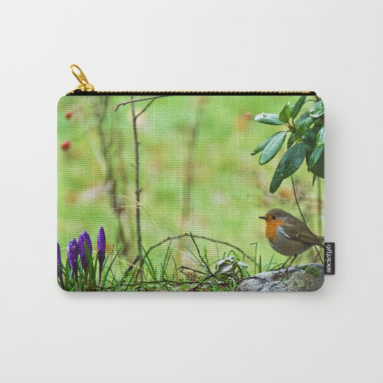Robin in the spring Carry-All Pouch