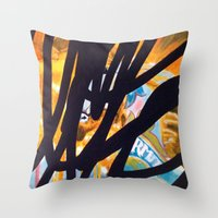 carousel Throw Pillows featuring CAROUSEL by Brandon Neher