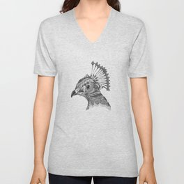 A peacock head Unisex V-Neck