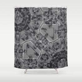 Scribble Mechanic Shower Curtain