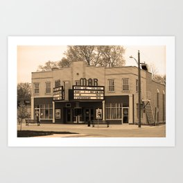 Route 66 - Mar Theater 2008 Art Print