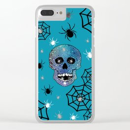 Creepy Crawling Spiders Clear iPhone Case