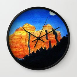 Sedona Moon Wall Clock
