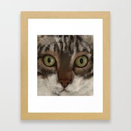 Cat Closer Framed Art Print