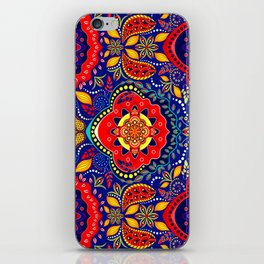 Bono Fantasy Pattern Red and Blue iPhone Skin