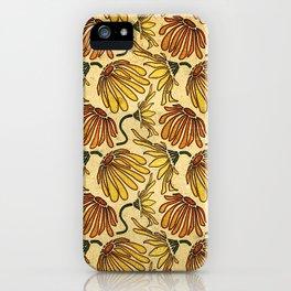 Retro 70's Golden Yellow Daisy Pattern  iPhone Case