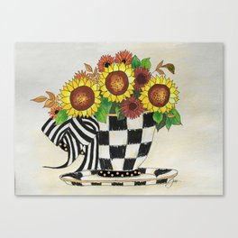 Sunflower Tea Canvas Print